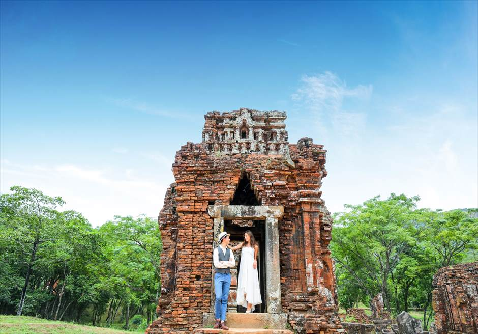 ミーソン遺跡 世界遺産 ベトナムフォトウェディング ダナンフォトウェディング