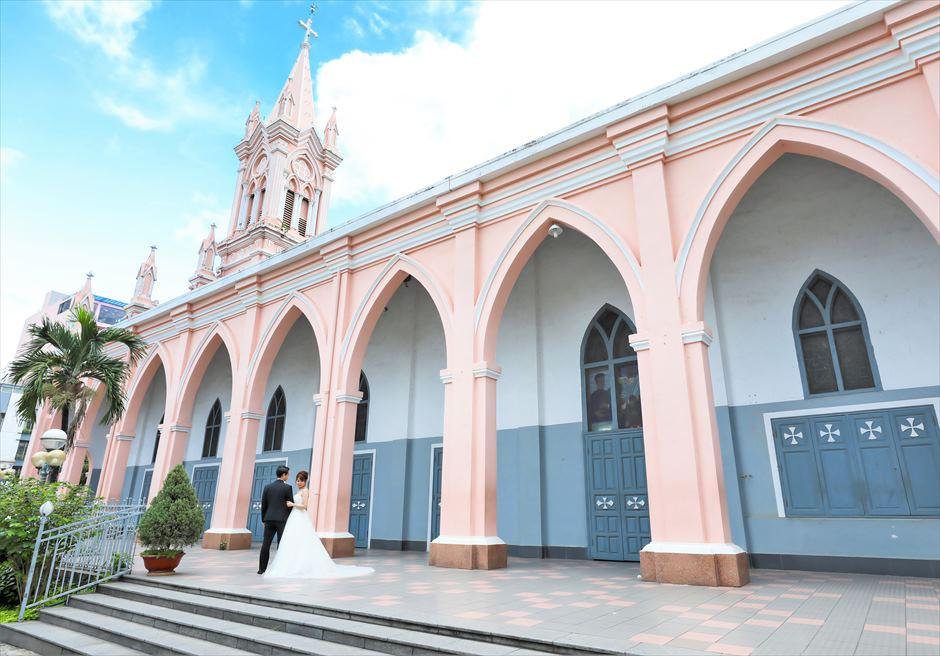ダナン大聖堂 ベトナム・後撮り ダナン・ウェディングフォト ベトナム・フォトウェディング