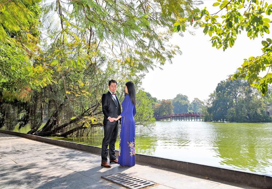 ハノイ・フォトウェディング ハノイ・ホアンキエム湖 ハノイウェディング ベトナム前撮り