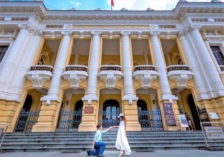 ハノイ・オペラハウス ベトナム前撮り ベトナム・ウェディングフォト ベトナムフォトウェディング