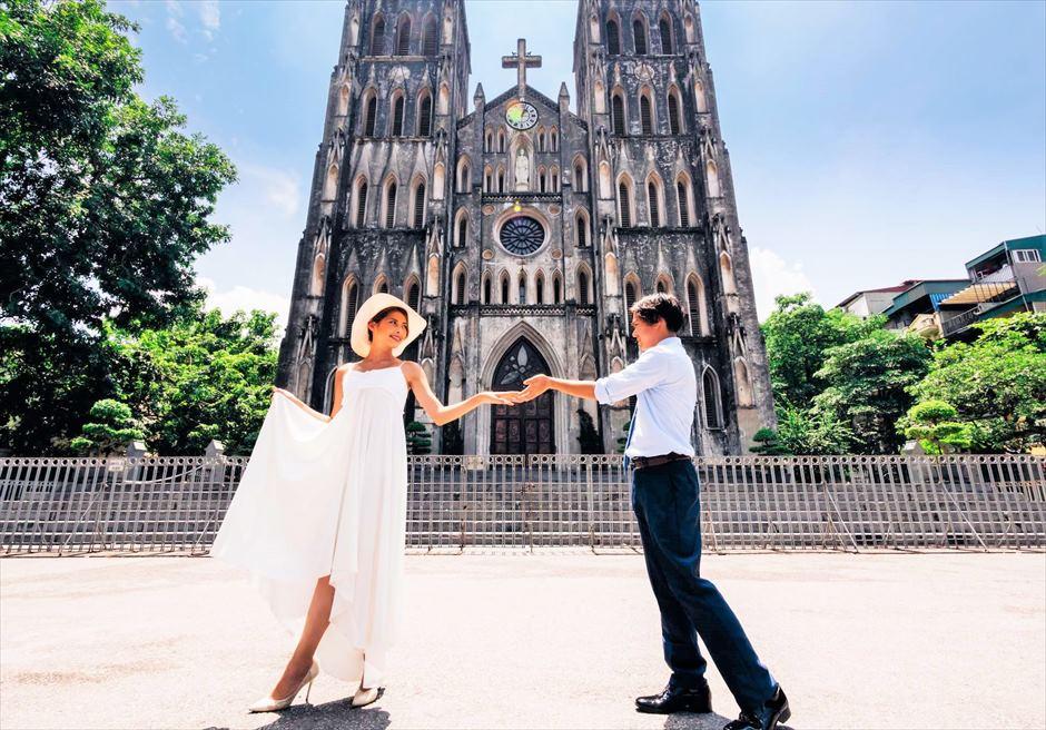 ハノイ大聖堂 ベトナムフォトウェディング ベトナム前撮り ベトナム・ウェディングフォト
