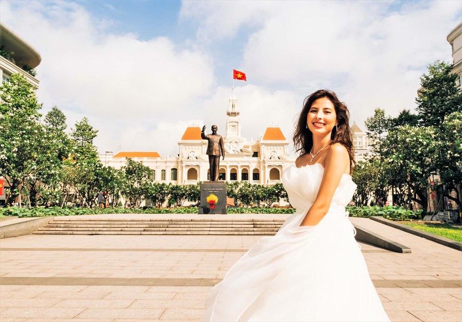 ホーチミン・人民委員会庁舎 ベトナム・フォトウェディング ホーチミン後撮り ホーチミン・フォト