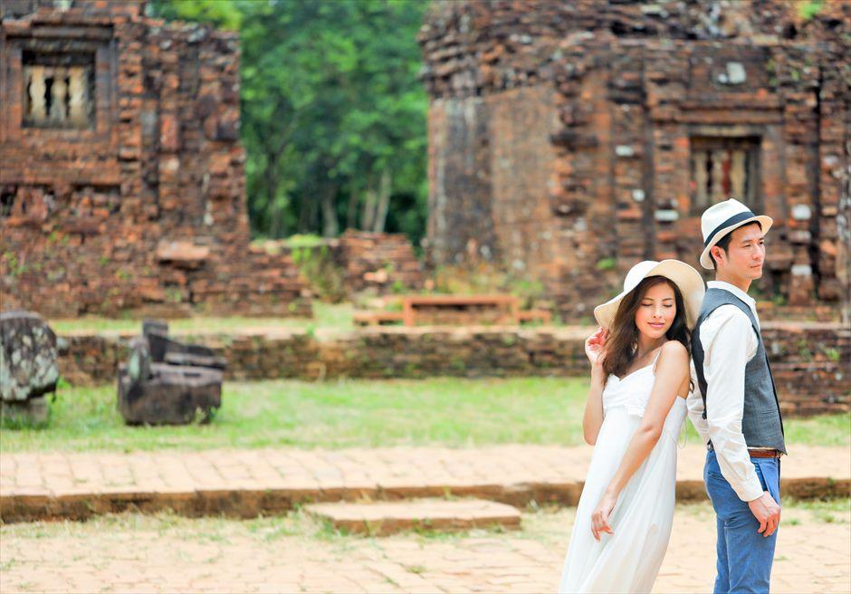 ベトナム・ミーソン遺跡 世界遺産・ベトナム ベトナム・前撮り ベトナムフォトウェディング
