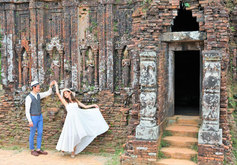 ミーソン遺跡 ベトナム世界遺産 ベトナム・ウェディングフォト ダナン・フォトウェディング