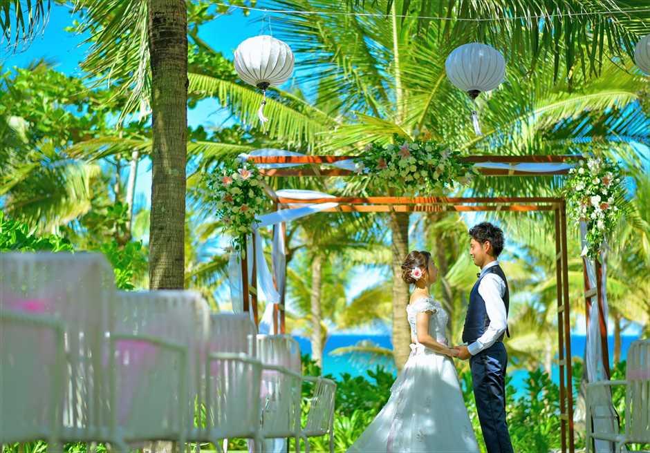 ベトナム・ガーデンウェディング プレミア・ヴィレッジ・リゾート・ダナン ガーデン挙式フォト ガーデンウェディング・撮影