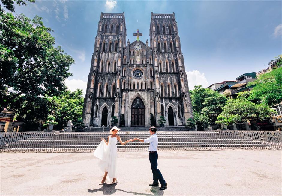 ハノイ大教会 ハノイ・ヨセフ大聖堂 ハノイ・ウェディングフォト ハノイ前撮り